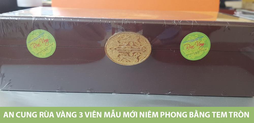 An cung Rùa vàng 3 viên mẫu mới niêm phong bằng Tem tròn
