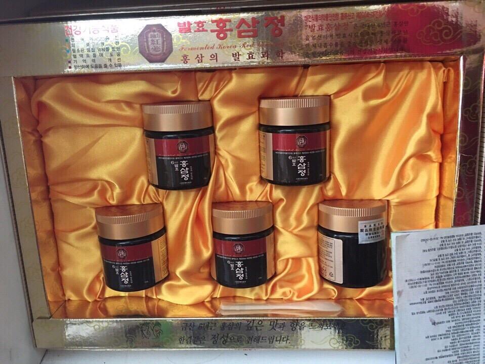 Cao Hồng Sâm Hàn Quốc 120g x 5 lọ - TPCN